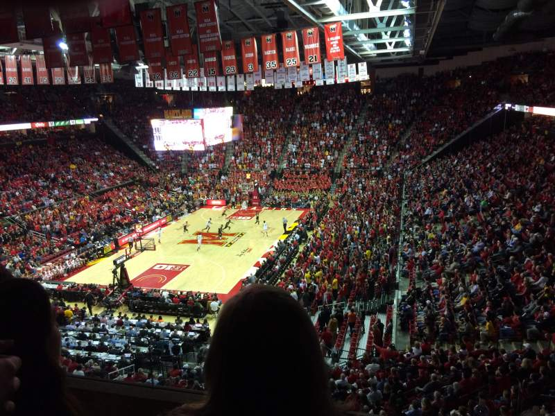 Seating view for Xfinity Center (Maryland) Section 209 Row  3 Seat 11