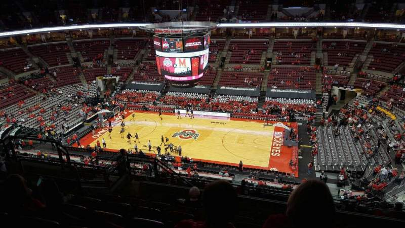 Seating view for Value City Arena Section 321 Row m Seat 11