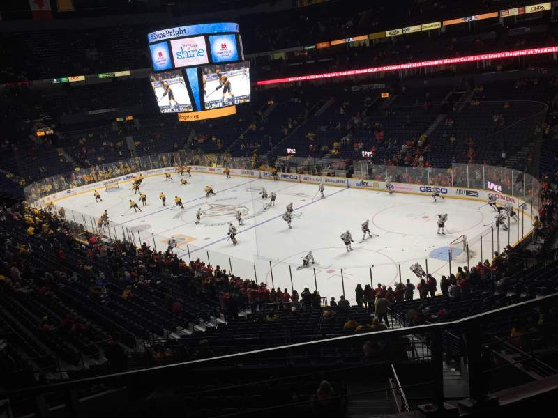Seating view for Bridgestone Arena Section 314 Row B Seat 9