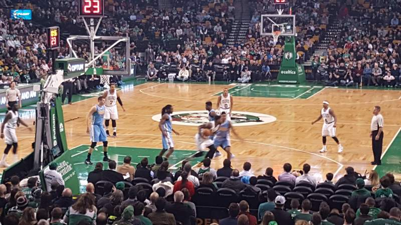 Seating view for TD Garden Section Loge 16 Row 15 Seat 18