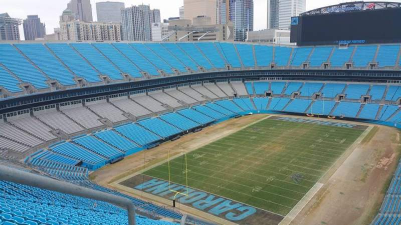 Seating view for Bank of America Stadium Section 551 Row 25 Seat 25