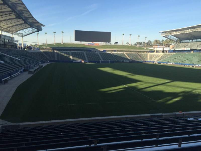 Seating view for StubHub Center Section 103 Row R Seat 15