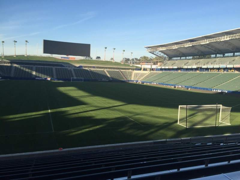 Seating view for StubHub Center Section 102 Row R Seat 15
