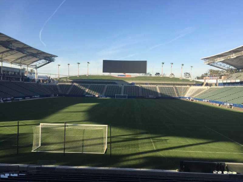 Seating view for StubHub Center Section 142 Row R Seat 15
