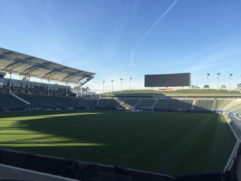 Seating view for StubHub Center Section 139 Row H Seat 15