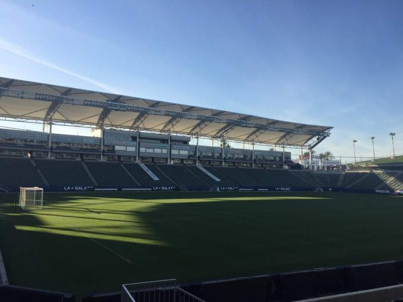 Seating view for StubHub Center Section 137 Row H Seat 15
