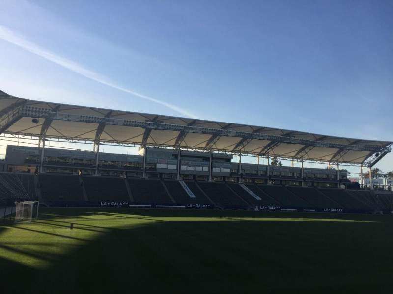 Seating view for StubHub Center Section 136 Row H Seat 15