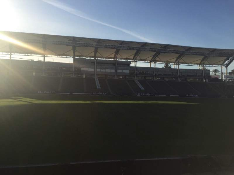 Seating view for StubHub Center Section 134 Row H Seat 15