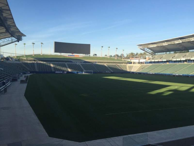 Seating view for Dignity Health Sports Park Section 104 Row H Seat 15