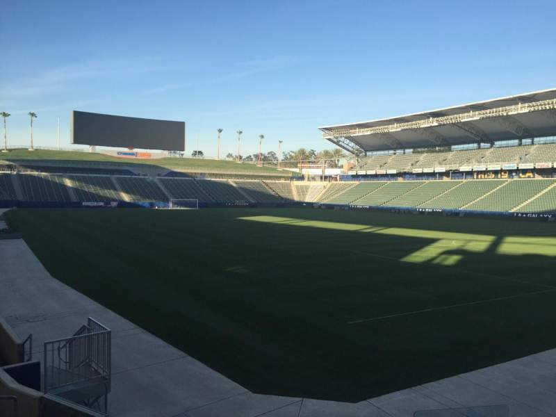 Seating view for StubHub Center Section 105 Row H Seat 15