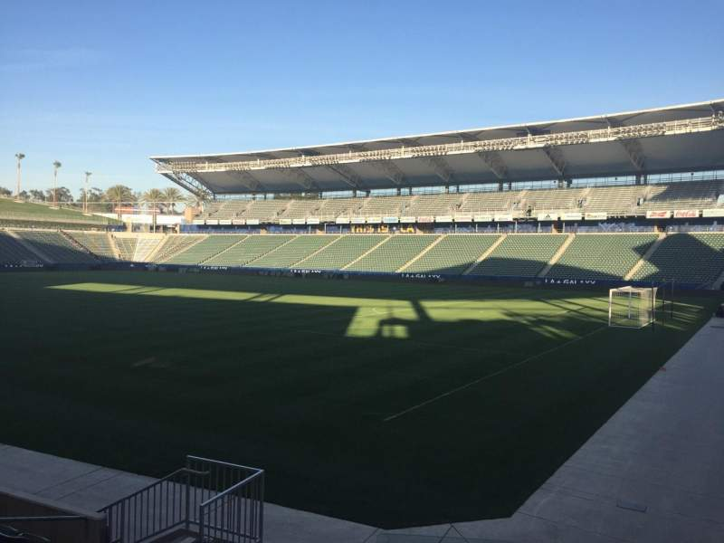 Seating view for StubHub Center Section 106 Row H Seat 15