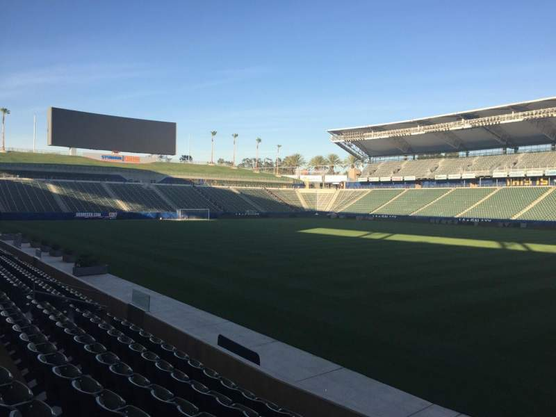 Seating view for StubHub Center Section 108 Row G Seat 15