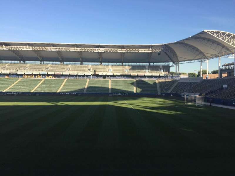 Seating view for StubHub Center Section 109 Row G Seat 15