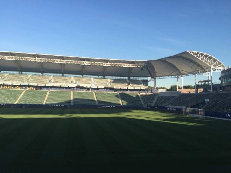 Seating view for StubHub Center Section 110 Row G Seat 15