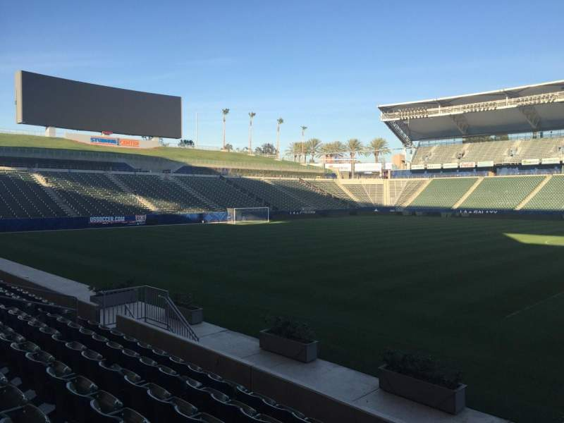 Seating view for StubHub Center Section 111 Row G Seat 15