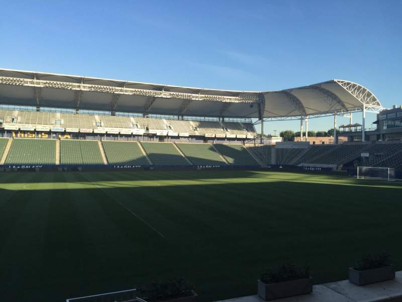 Seating view for Dignity Health Sports Park Section 112 Row G Seat 15