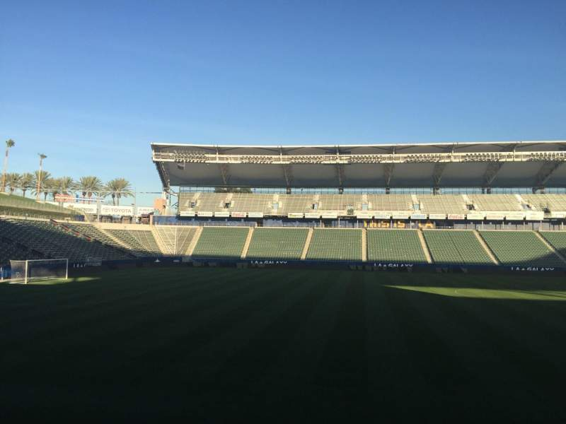 Seating view for StubHub Center Section 113 Row G Seat 15
