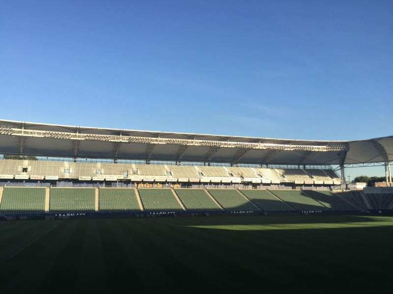 Seating view for StubHub Center Section 114 Row G Seat 15