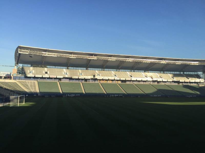 Seating view for StubHub Center Section 115 Row G Seat 15