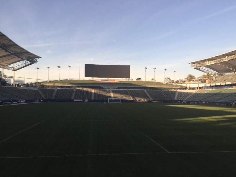 Seating view for StubHub Center Section 102 Row C Seat 15