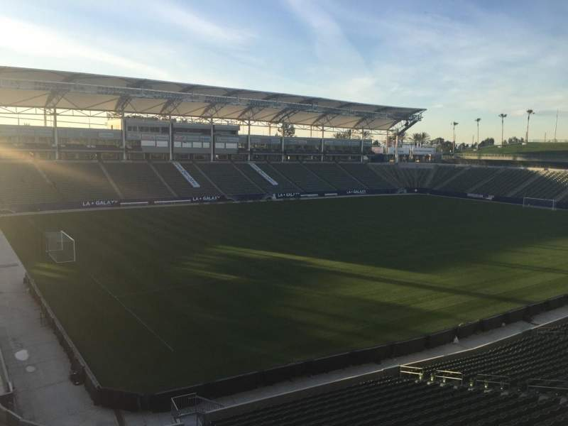Seating view for StubHub Center Section 238 Row AA Seat 15