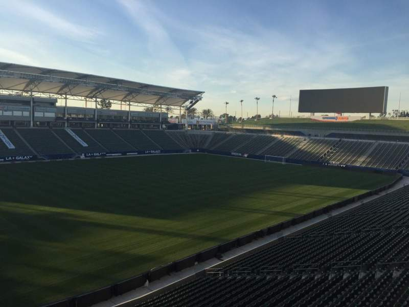 Seating view for StubHub Center Section 236 Row AA Seat 15
