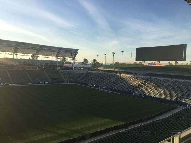 Seating view for StubHub Center Section 232 Row DD Seat 15