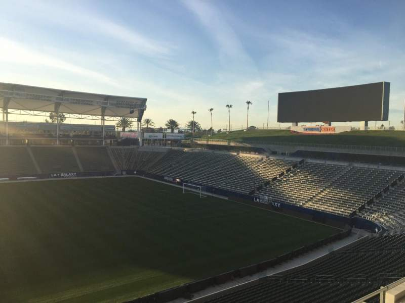 Seating view for StubHub Center Section 231 Row DD Seat 15