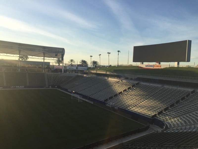 Seating view for StubHub Center Section 230 Row DD Seat 15