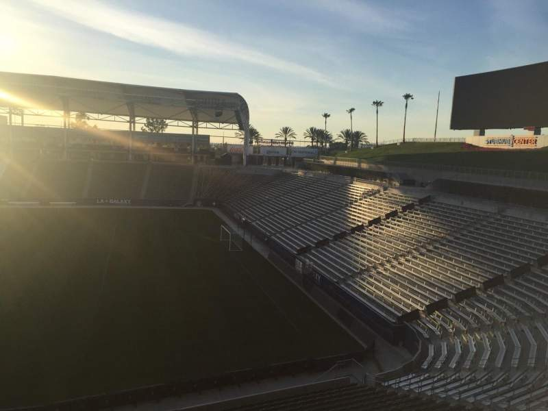 Seating view for StubHub Center Section 228 Row DD Seat 15