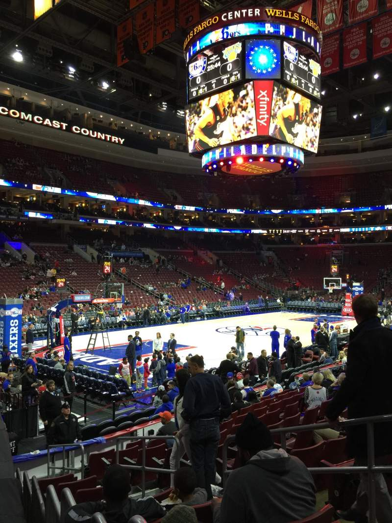 Seating view for Wells Fargo Center Section 121 Row 22