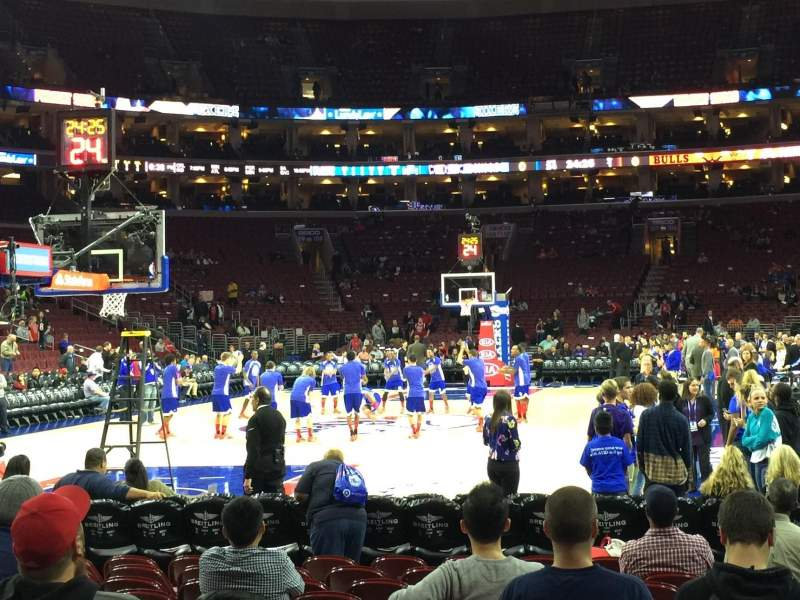 Seating view for Wells Fargo Center Section 120 Row 2