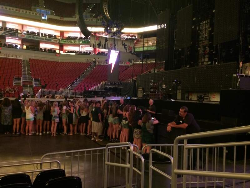 Seating view for KFC Yum! Center Section 105 Row E Seat 2