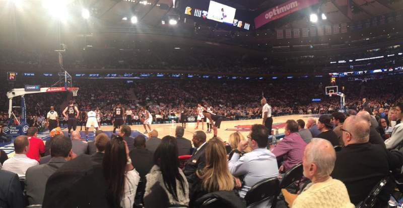 Madison Square Garden, section: 4, row: 2, seat: 10