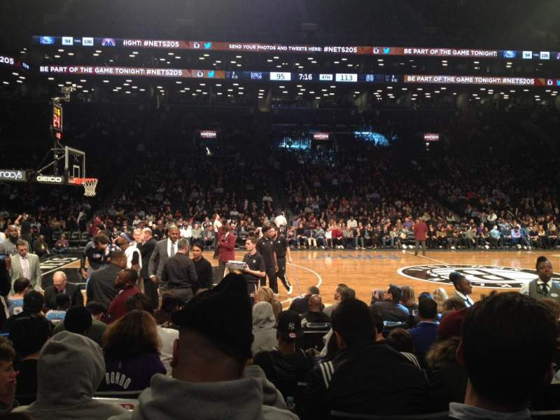 Seating view for Barclays Center Section 9 Row 5 Seat 5
