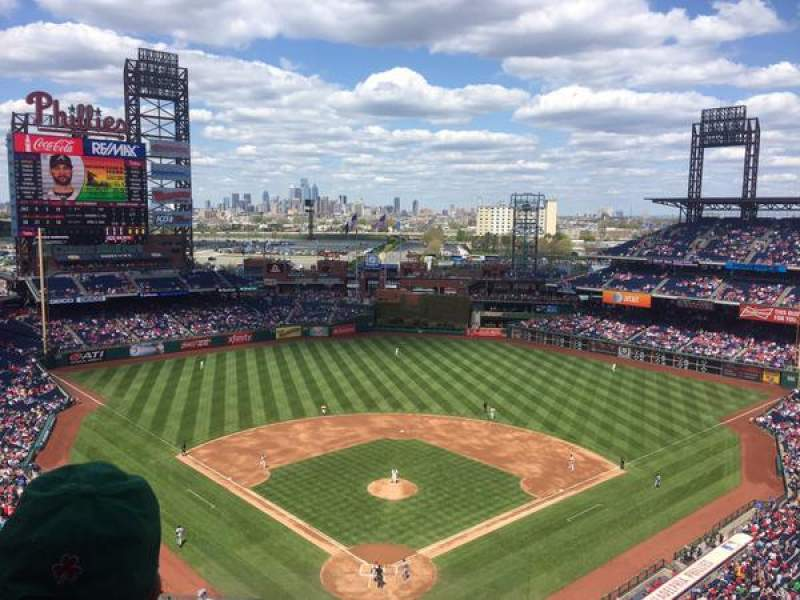 Seating view for Citizens Bank Park Section 420 Row 5 Seat 16