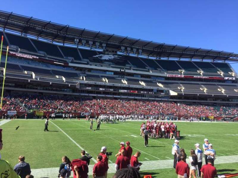 Seating view for Lincoln Financial Field Section 116 Row 2 Seat 20