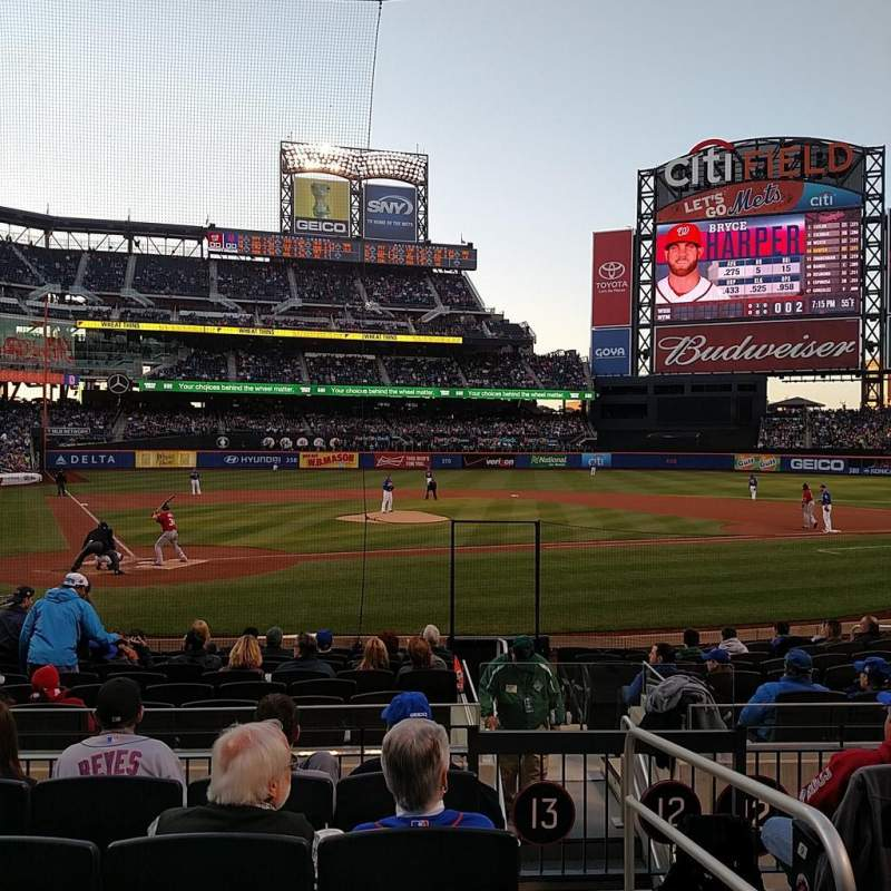 Seating view for Citi Field Section 13 Row 13