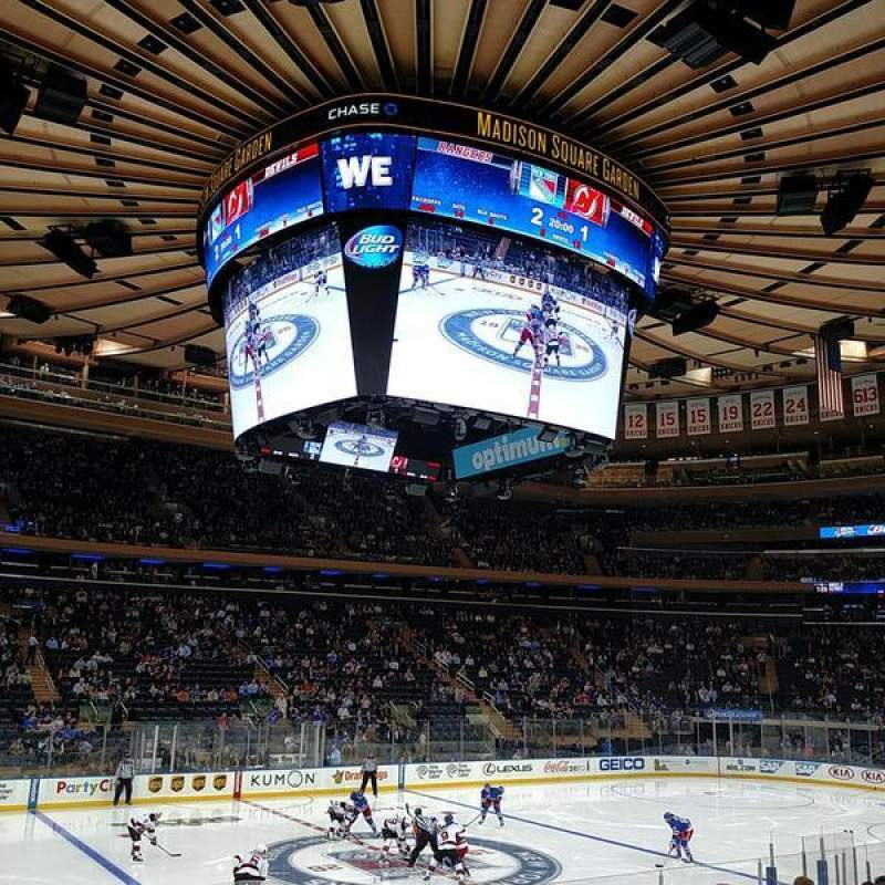 Seating view for Madison Square Garden Section 106 Row 12