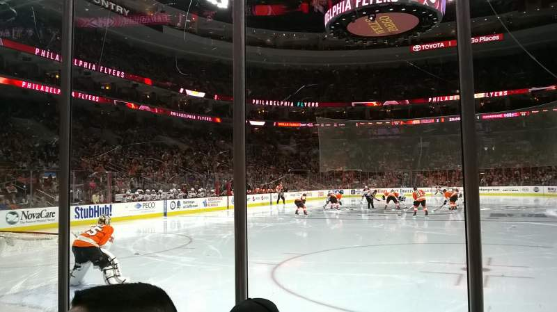 Seating view for Wells Fargo Center Section 108 Row 3 Seat 7