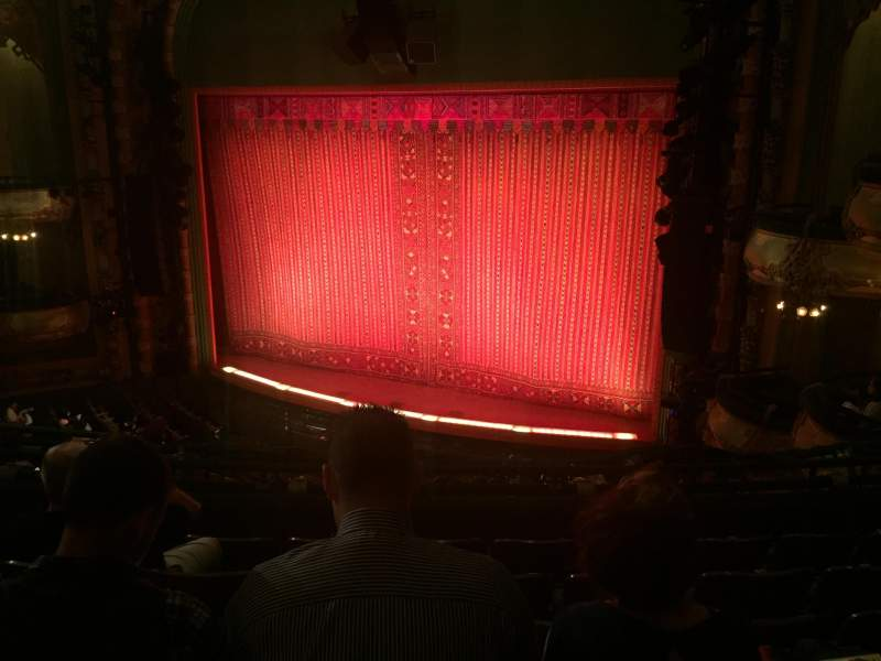 Seating view for New Amsterdam Theatre Section Mezzanine R