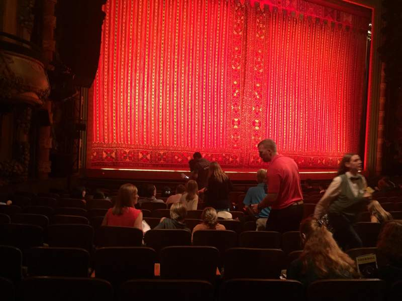 Seating view for New Amsterdam Theatre Section Orch Left