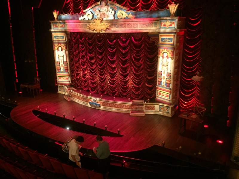 Seating view for Walter Kerr Theatre Section Mezz Right Row B Seat 14