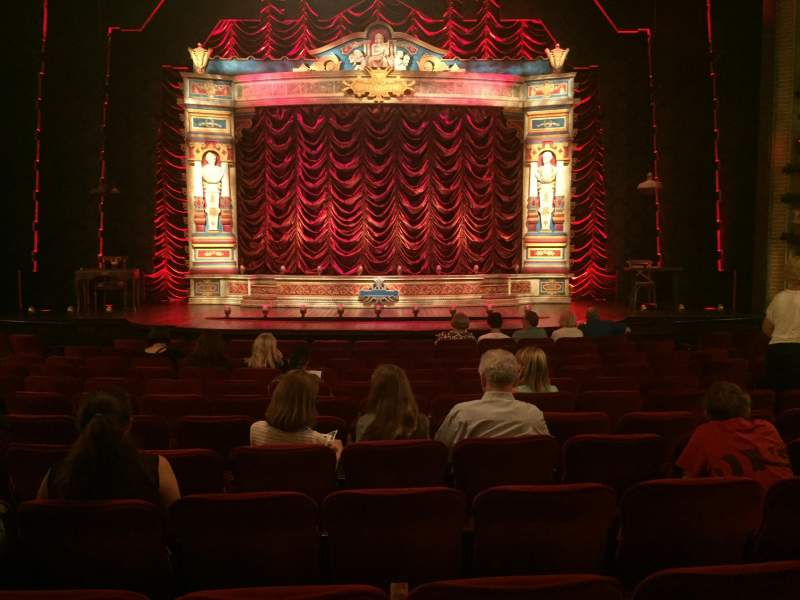 Seating view for Walter Kerr Theatre Section Orch Center Row R Seat 107
