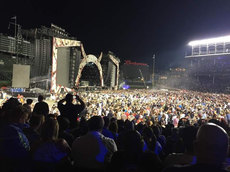 Concert photos at Wrigley Field.