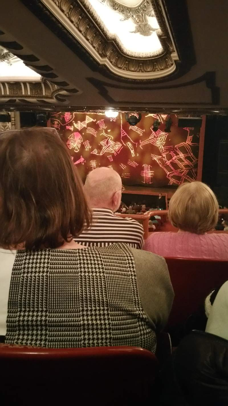 Seating view for Cadillac Palace Theater Section Dress Circle LC Row C Seat 230