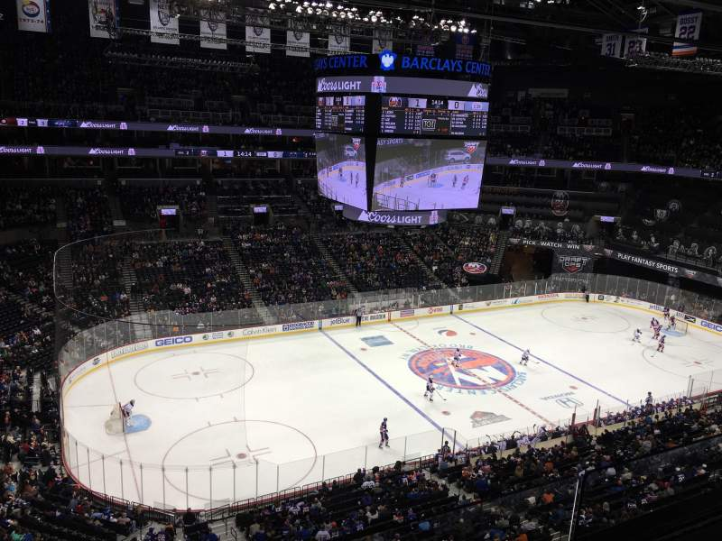 Seating view for Barclays Center Section 210 Row 2 Seat 18