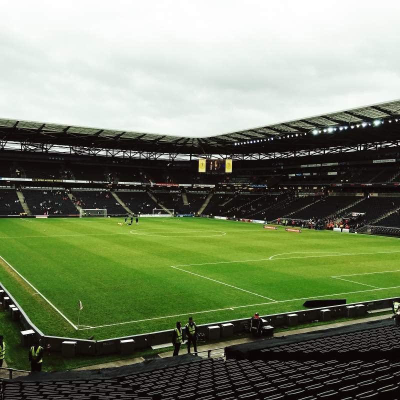 Seating view for Stadium:mk Section Aisle 35 Row Z Seat 996