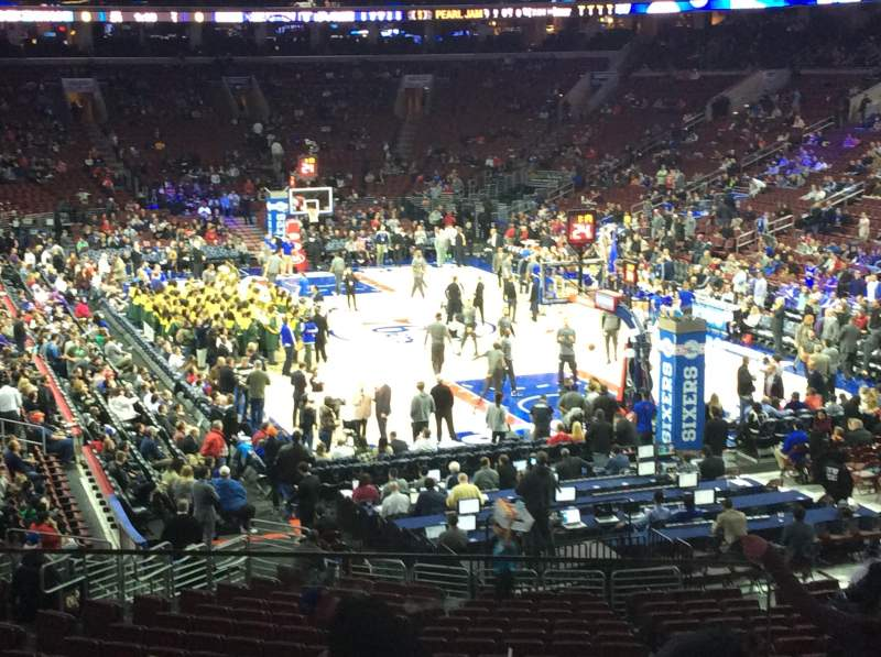Seating view for Wells Fargo Center Section 118 Row 25 Seat 1
