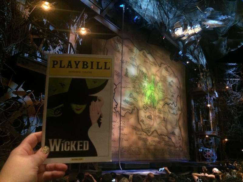 Seating view for Gershwin Theatre Section Orchestra L Row D Seat 23